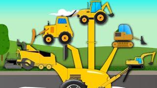 Construction Vehicles Finger Family | Cars For Kids
