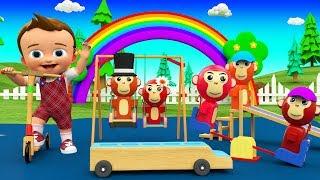 Little Baby Fun Learning Cartoon Monkey Finger Family Nursery Rhymes for Kids Children Educational