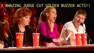 3 AMAZING JUDGE CUT GOLDEN BUZZERS!! - America's Got Talent 2016