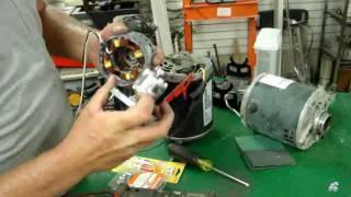 AC INDUCTION MOTOR CONVERSION TO AC PERMANENT MAGNET GENERATOR FUN
