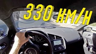 Audi R8 V10 Plus - drive on the Autobahn - What's SPEED ! 300+ km/h