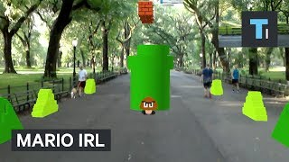 Watch this guy play Mario IRL using augmented reality