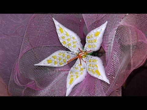 3D origami how to make a lily modular origami tutorial - Buxrs Videos - Watch YouTube in Pakistan Without Proxy