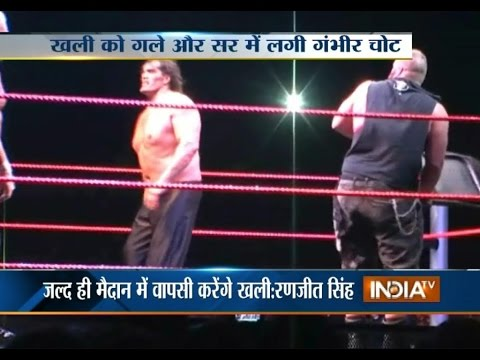 Xxx Mp4 Indian Wrestler The Great Khali Gets Injured Into The Ring WWE Wrestling 3gp Sex