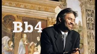 Andrea Bocelli Vocal Range (C#2-D5)