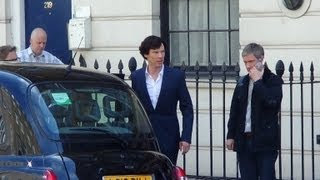 "On Set with ""Sherlock"" Series 3,"