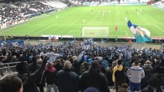 OM 5-1 Montpellier, la ferveur du virage Sud