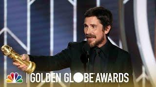 Christian Bale Wins Best Actor, Musical or Comedy - 2019 Golden Globes (Highlight)