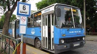Buszok késő délután, kora este a buszvégnél