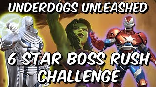 Underdogs Unleashed! - 6 Star Boss Rush Challenge - Marvel Contest Of Champions