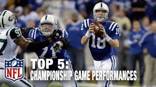 Top 5 QB Championship Game Performances | NFL Now