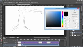 Photoshop Hand Drawn Animation Tutorial - Video Timeline Leaf Falling