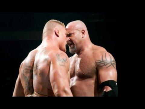 WWE RAW 24 10 2016 BROCK LESNER ATTACK GOLD BERG