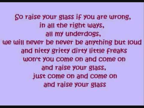 Pink - Raise your Glass (lyrics)