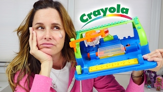 Crayola Motorized Crayon Carver FAIL! Toy Review by Amy Jo