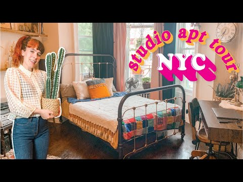 What 1500 will REALLY get you in NYC My Studio NYC Apartment Tour Vintage Inspired Space