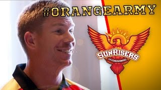 The Sunrisers welcome Captain Warner into their IPL charge!