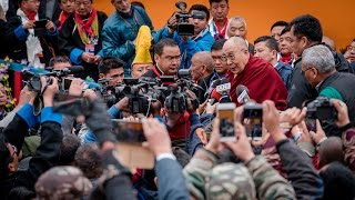 His Holiness the Dalai Lama Speaks to the Press in Bomdila, AP, India