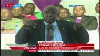 Narok Senator Samuel Ole Ntutu challenges the Maasai leaders to meet 3 weeks after Ntimama's burial