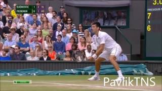 Novak Djokovic vs Roger Federer Highlights Wimbledon 2015 FINAL