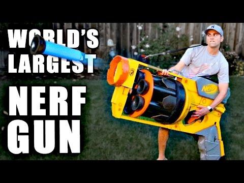 World s LARGEST NERF GUN