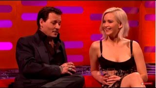 Donald Trump being commented on by Jennifer Lawrence & Johnny Depp 05.13.2016