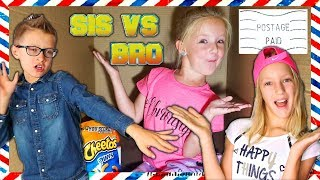 I Mailed Myself to Karina and Ronald From Sis vs Bro! *IT WORKED* Human Mail Challenge!! (Skit)