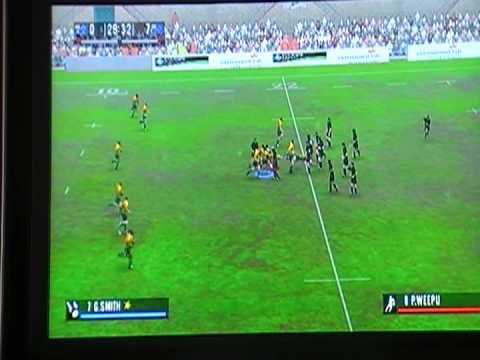EA Rugby 2006 Xbox Gay Guy Aus vs Flash NZ 23 01 09 First Half