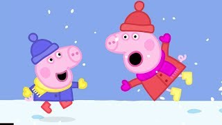 Peppa Pig English Episodes in 4K | Snow Fun! | 12 DAYS OF PEPPA
