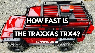 How Fast Is The Traxxas TRX4 Rock Crawler - 2S Top Speed Test