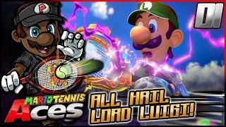 ALL HAIL LORD LUIGI | Mario Tennis Aces w/ @PKSparkxx! - Part 1 [Bask Ruins] (Single Player)