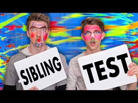 SIBLING TEST CHALLENGE w FACE PAINT Collins Key Sibling Tag