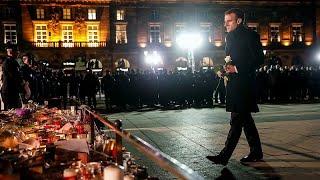 ماكرون في ستراسبورغ لتفقد موقع هجوم سوق عيد الميلاد