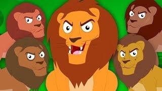 Five Big Lions   Kindergarten Nursery Rhymes For Babies