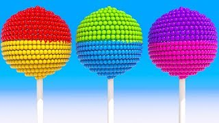 Learning Alphabet and Colors with Spiral 3D Lollipops for Children