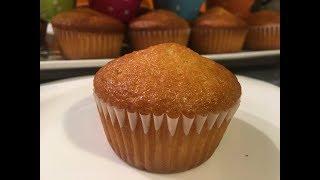 كاب كيك ماضلين في الخلاط ببيضة واحدة فقط اقتصادي كيجي خفيييف وهشيش / Orangen Muffins Cupcakes