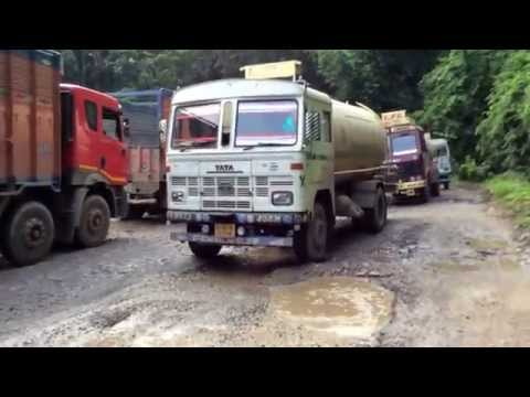 Road condtion NH 44 around Sonapur 10 August 2014
