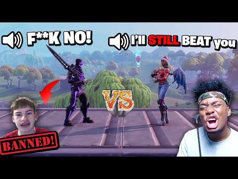 Xxx Mp4 I Let A OG Purple Skull Trooper Kid 1v1 ME With The INFINITY SWORD I MADE HIM CRY 3gp Sex