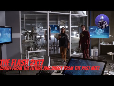 The Flash 2x17 - Barry from the future and Barry from the past meet