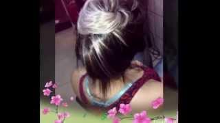 Luzes e ombré hair platinados