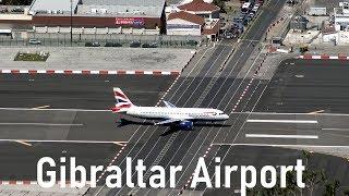 Dangerous Gibraltar Airport | British Airways @ Gibraltar | 4K | 09.04.2016