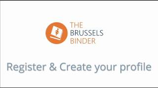 The Brussels Binder - How to create your expert's profile?