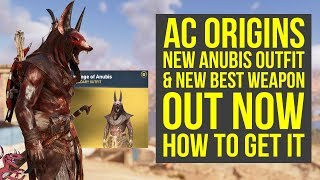 New Assassin's Creed Origins Anubis Outfit OUT NOW & New Best Shield (AC Origins Anubis Outfit)