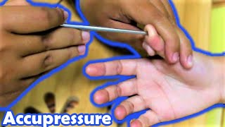 Acupressure Hand and Finger Massage with Chopsticks - Relaxing ASMR