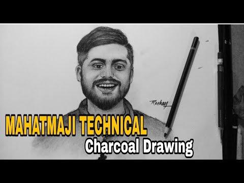 MAHATMAJI TECHNICAL (Amresh Bharti) - Charcoal Drawing
