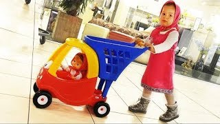 Masha's Doing Shopping - Supermarket Song - Kids Mini Car, Baby Songs Nursery Rhymes for Kids
