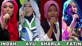 Battle Vocal ( INDAH NEVERTARI / FATIN LUBIS / AYU PUTRISUNDARI & SHARLA )