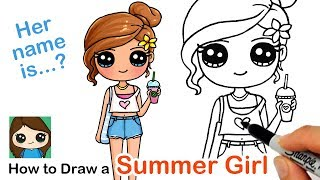 How to Draw a Cute Girl | Summer Art Series #7