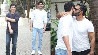 Sunil Shetty Takes Son Ahaan To Meet Director Sajid Nadiadwala