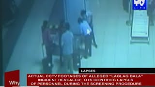 "Actual CCTV footages of alleged ""Laglag bala"" incident revealed"